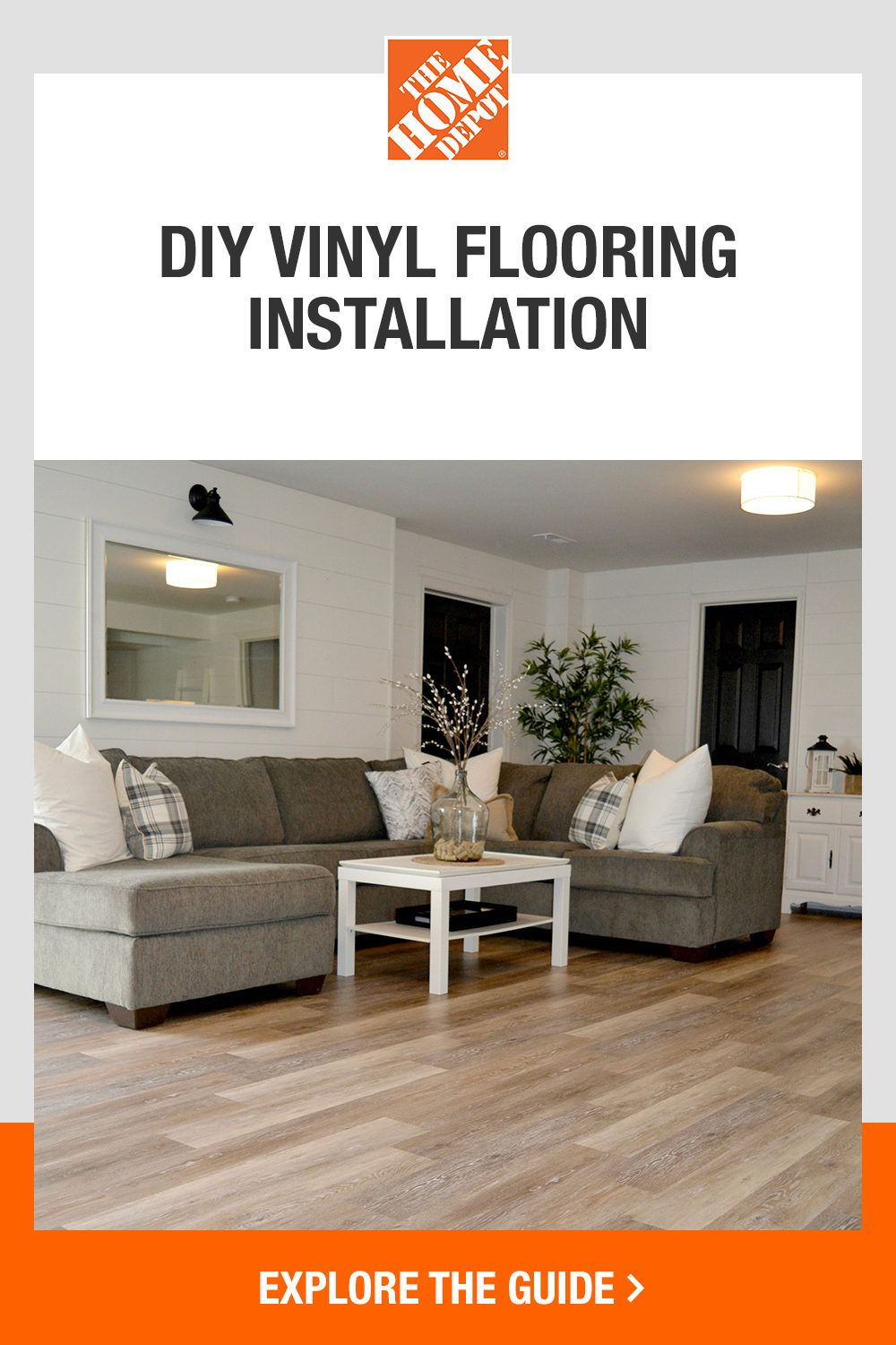 Enjoy the look of real wood with vinyl flooring from The Home Depot. Vinyl plank flooring has the visual appeal of solid hardwoods but is a fraction of the price and easy to install yourself—making it a great option for home-improvers. Click The Home Depot guide to learn the installation basics for any room of your home.