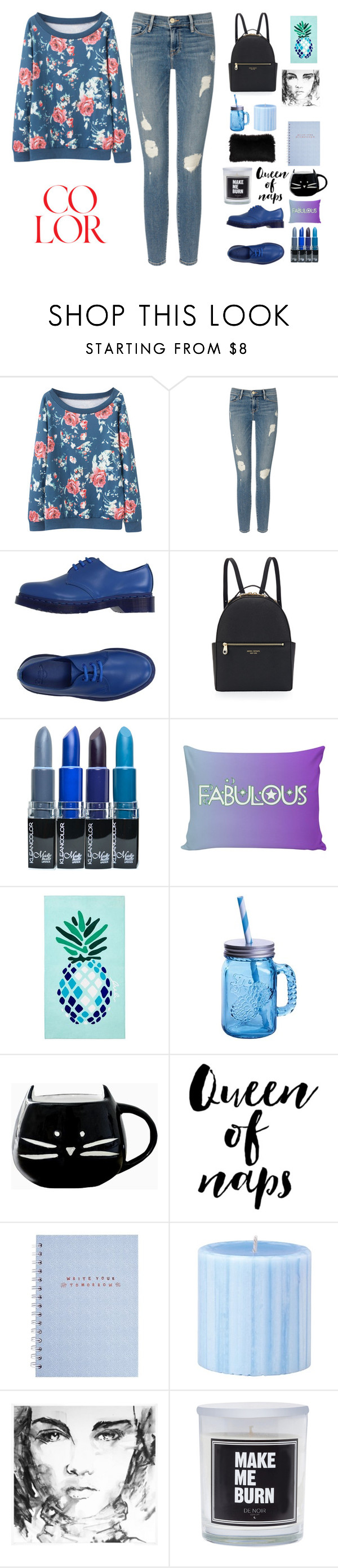 """""""100 followers!!!"""" by holly-k15 ❤ liked on Polyvore featuring Frame Denim, Dr. Martens, Henri Bendel, Matouk and Fitz & Floyd"""