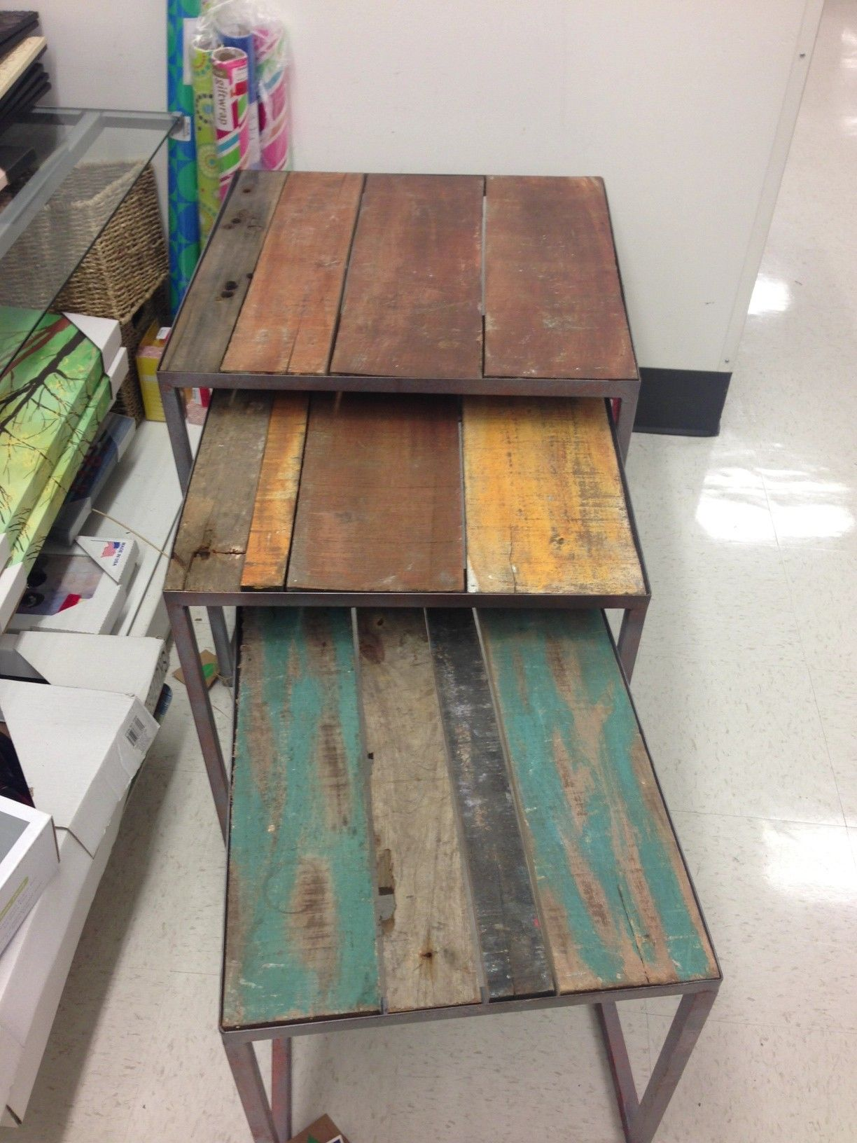 Recycled Boat Tables Table Furniture Wooden Wood End