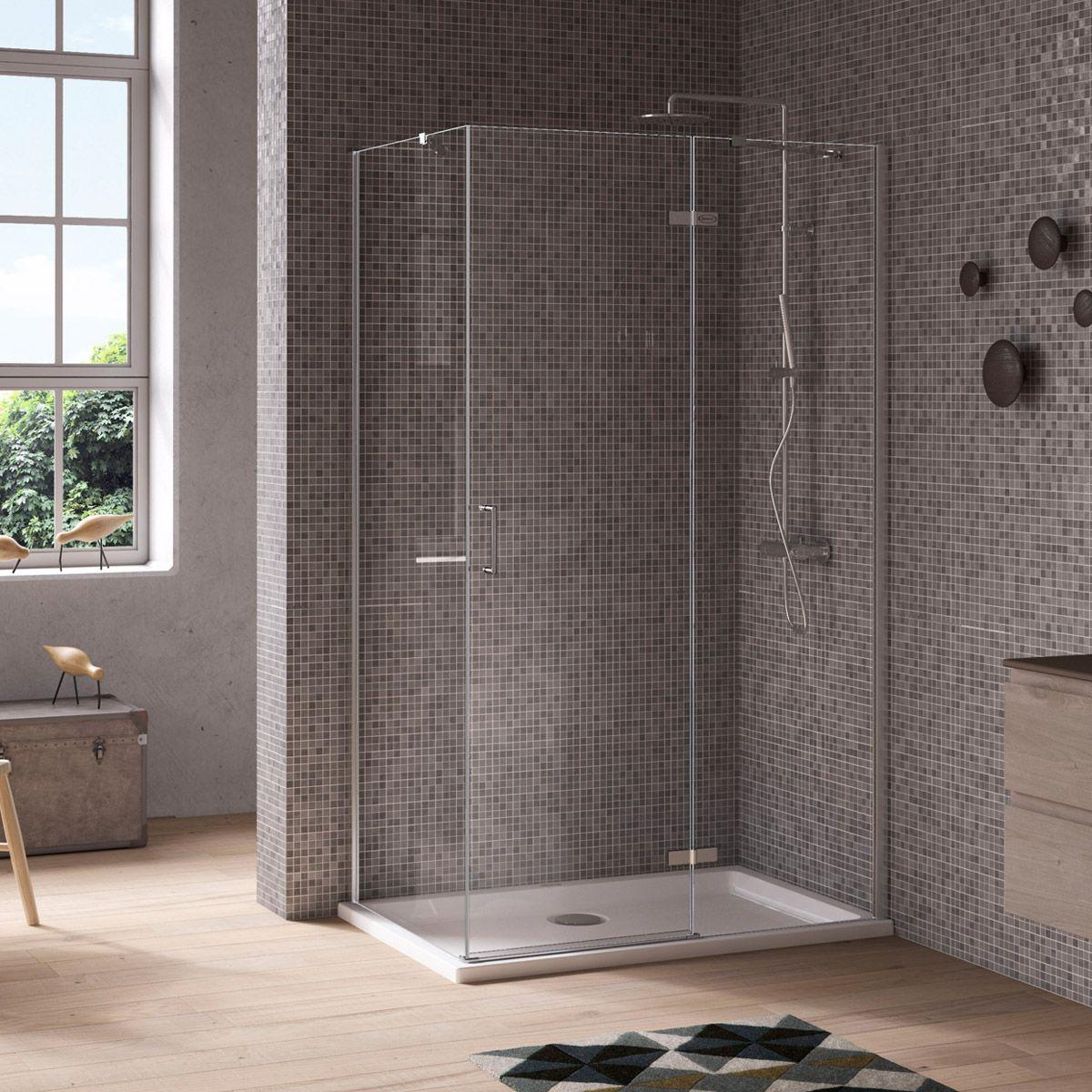 Jacuzzi Essentials hinged door shower enclosure 1000 x 800   Shower ...