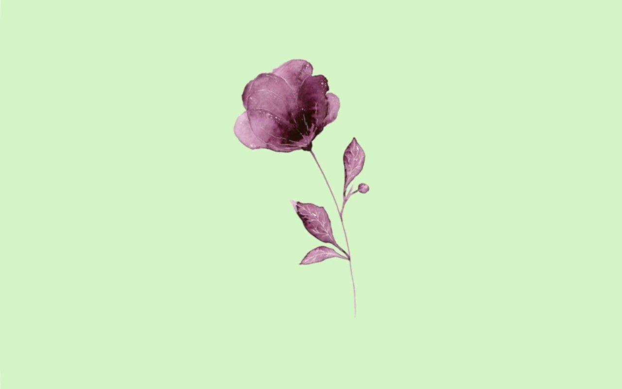 Minimalist Purple Flower Desktop Wallpaper Flower Desktop Wallpaper Minimalist Wallpaper Purple Flowers