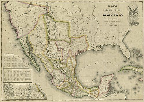 United States Of Mexico Historical Map 1828 Texas History
