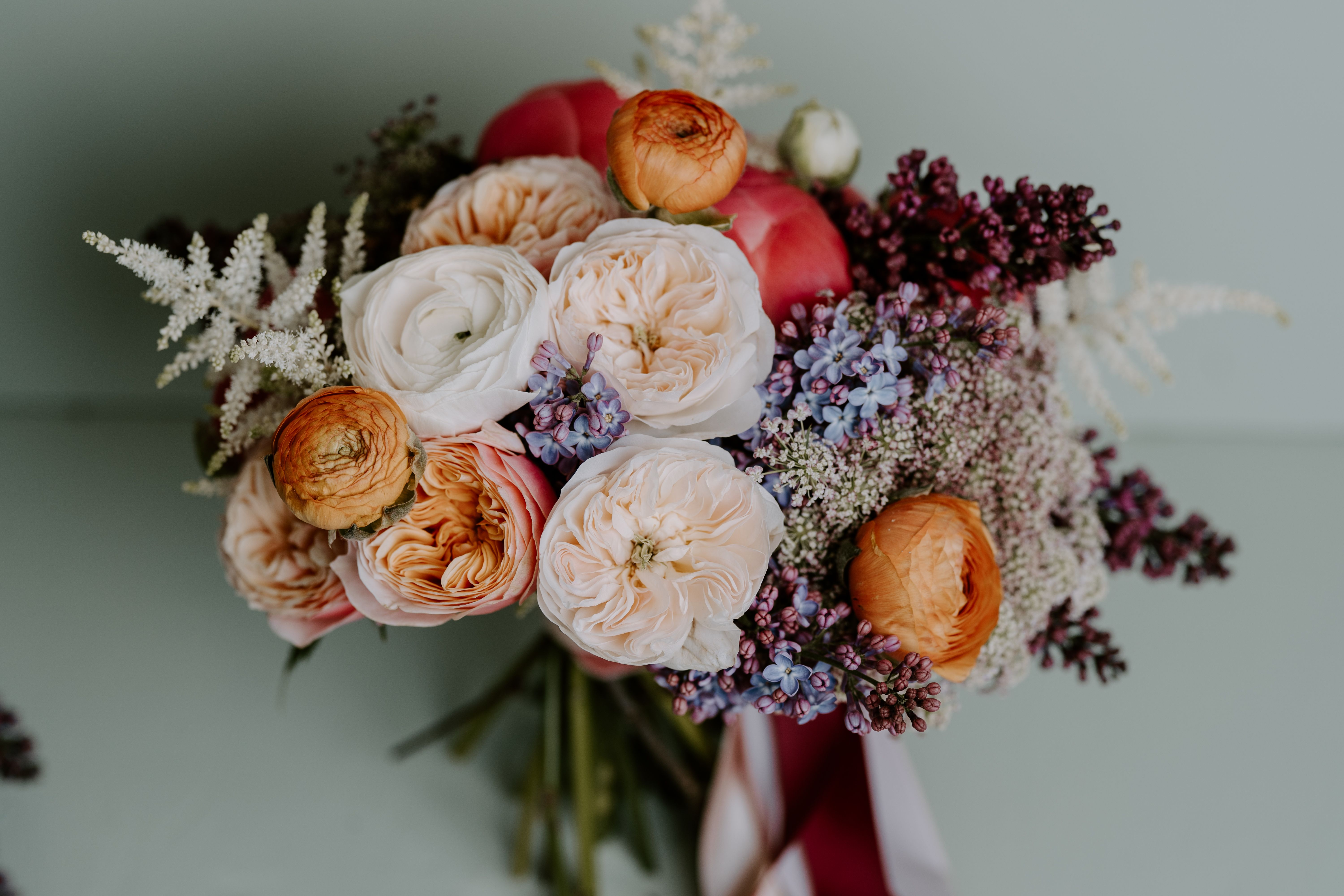 Photo of Colourful Bridal Bouquet