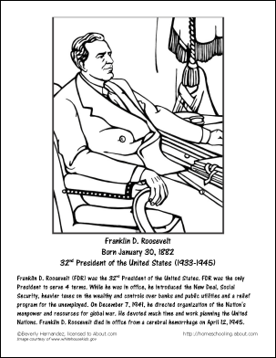Learn All About Franklin D Roosevelt With These Free Printables Elementary History Franklin D Roosevelt Franklin