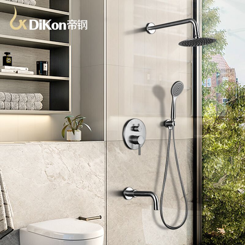 Luxury Bathroom Shower Faucet 304 Stainless Steel Mixer Tap Head Set Faucets Wall Embeded Type Cra Bathroom Shower Faucets Luxury Bathroom Shower Shower Panels