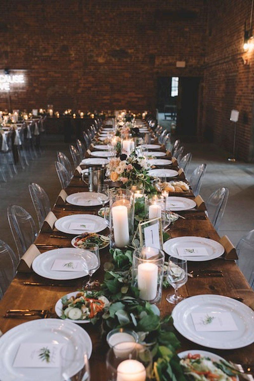 Wedding decor ideas simple   Simple Greenery Wedding Centerpieces Ideas  Wedding centerpieces