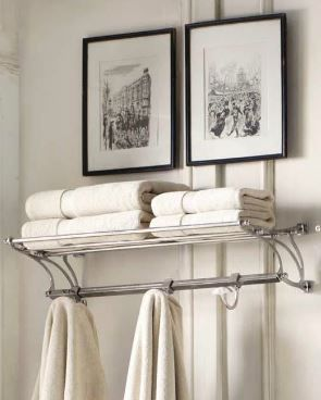 Bistro Train Rack In Bathroom Would Work Great On 2nd Floor Main Family Styling Note I Ve Always Liked The Nonchalant Way Of Hanging Pictures