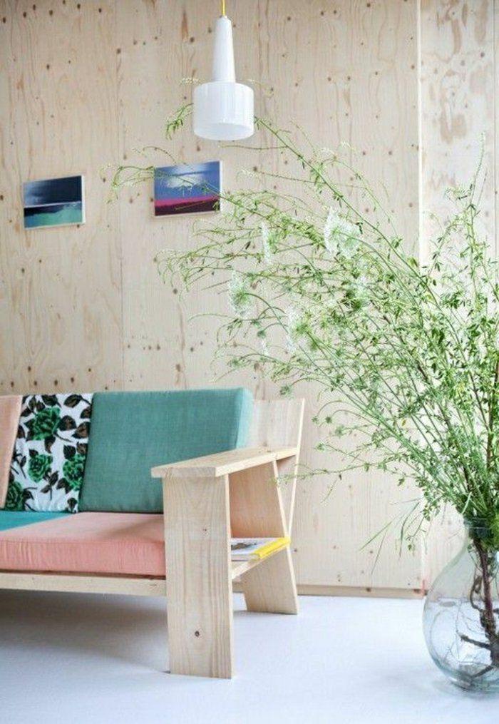 nice Déco Salon - les-couleurs-pastels-pour-le-salon-moderne-un