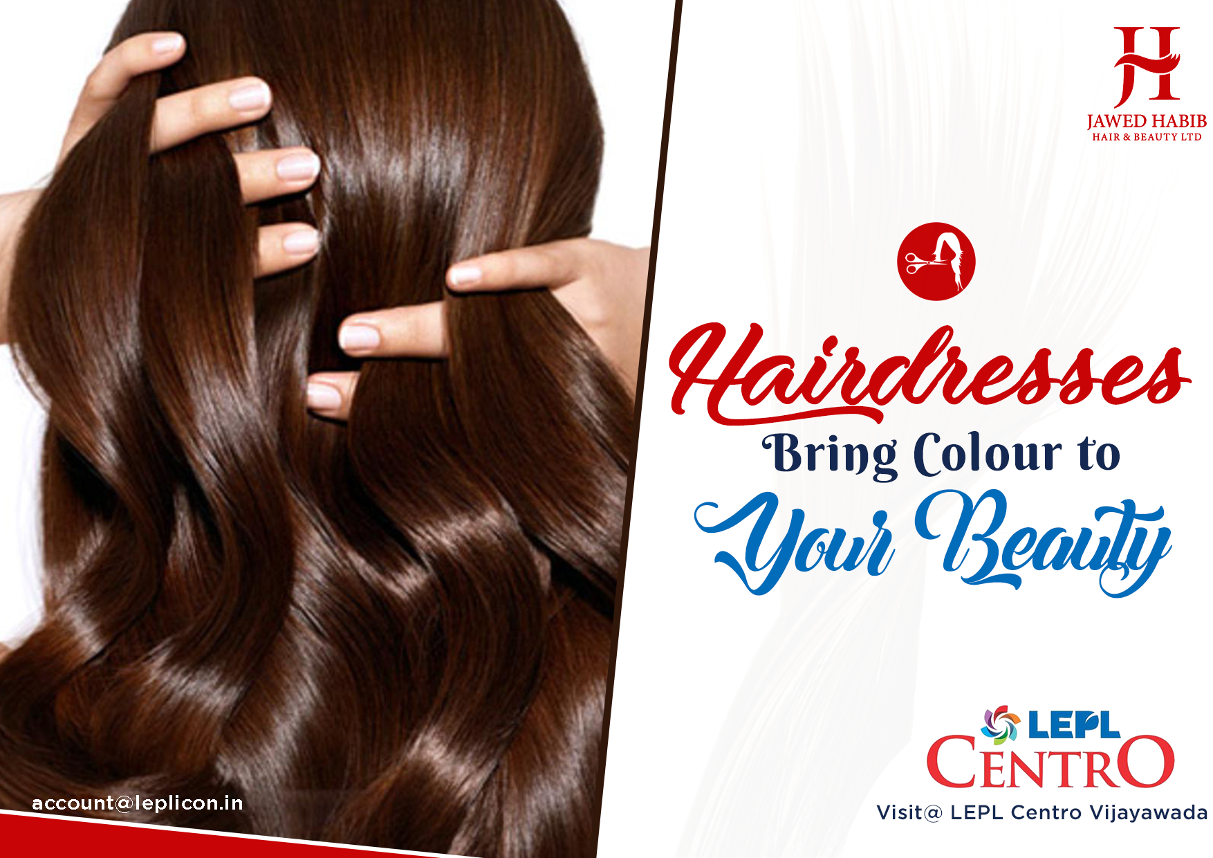Book Your Appointment Today In Jawed Habib S One Of The Largest Chains Of Unisex Salons In The Country In Lepl Centro Vija Unisex Salon Hair Trends Hair Beauty