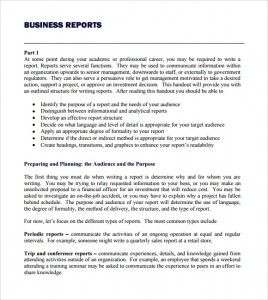 Business Report Template Writing Word Excel Format Report