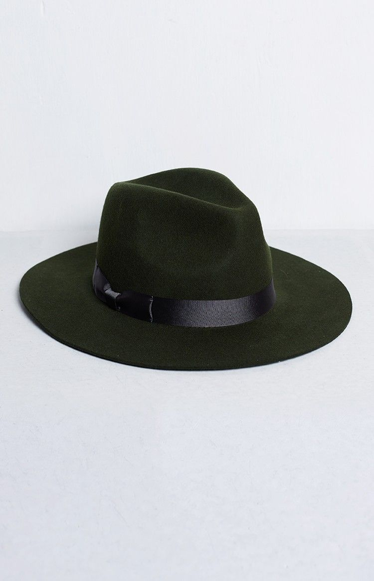 6ace2f9e462c1 Lack Of Color The Silent Woods Fedora Olive Green
