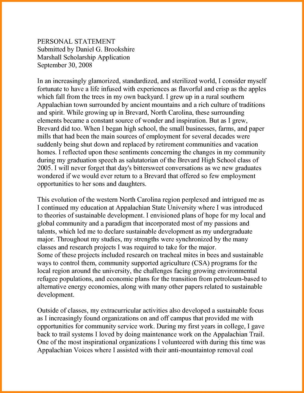 Masters of Social Work Personal Statement Sample in 2020