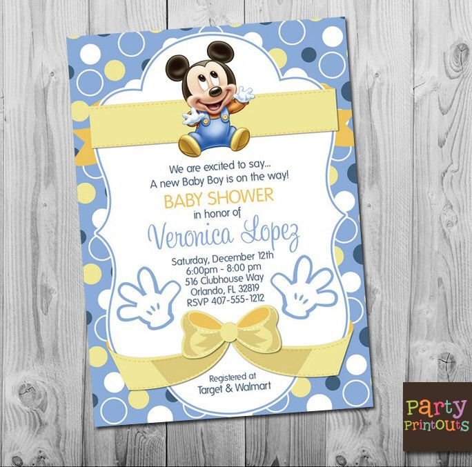 Pin By Charissa Sims On Mickey And Minnie Party Ideas Invitación