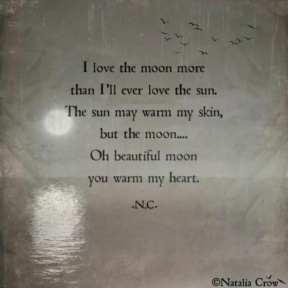 I love the moon.......