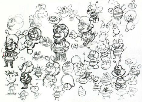 Bee Mario Concept Doodles Super Mario Galaxy