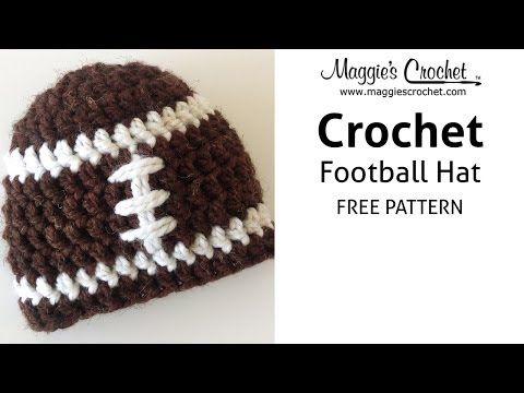 907b9e496e3cb Football Hat Free Crochet Pattern - Right Handed - YouTube