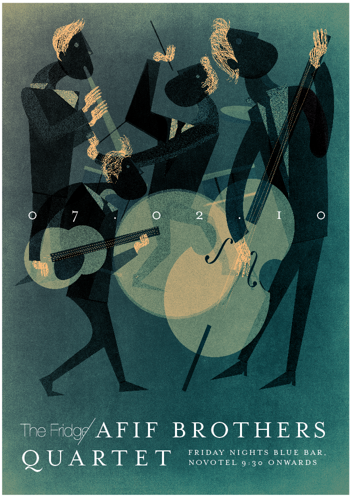 Afif Brothers Quartet @ The Fringe by Dozign --- I found this beauty via the very cool blog Hovering Cat.