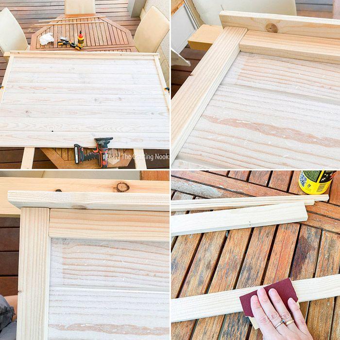 DIY Rustic Wooden Headboard Rustic wooden headboard