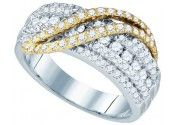 Ladies Diamond Fashion Band 10K Two Tone Gold 1.03 cts.