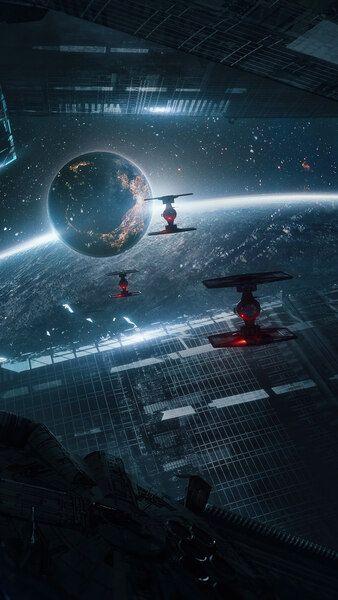 Star Wars TIE Fighter SciFi Fantasy Space 4K HD