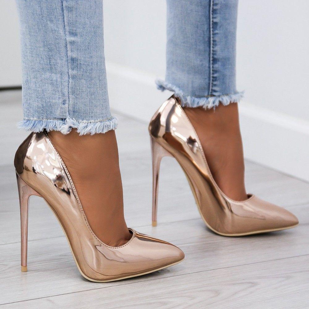 Szpilki Klasyczne Lustrzane Rozowe Zloto Jasmina Lovet Manolo Blahnik Heels Fashion Shoes Heels