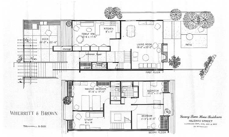 Mid Century Modern Floor Plans | Berkeley Real Estate:Mid Century