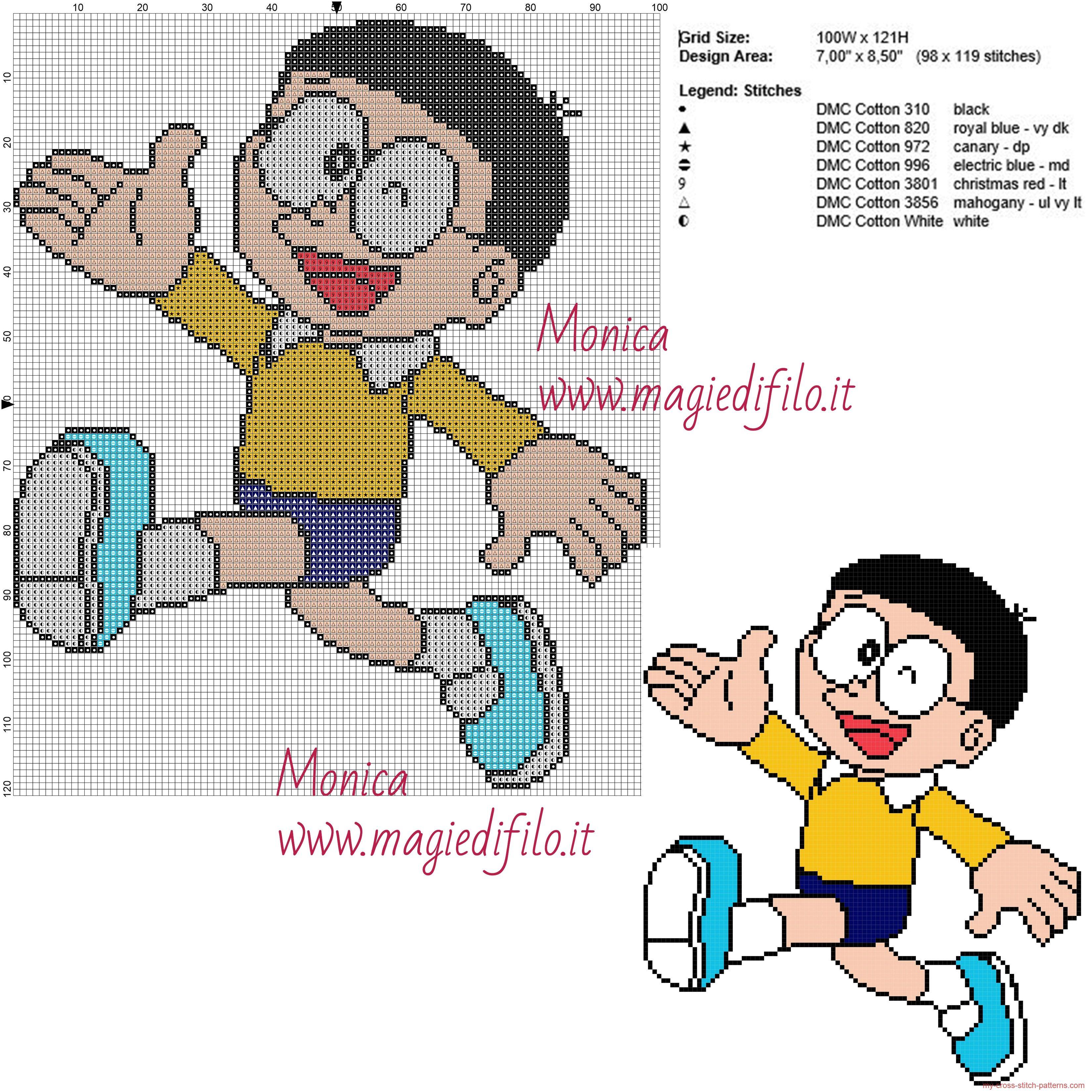 Schema punto croce Nobita (Doraemon)
