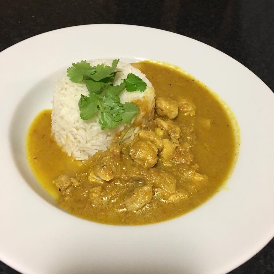 Mango curry chicken thermomix | Mango chicken curry, Curry