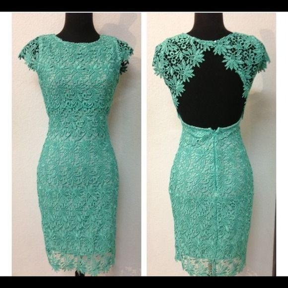 2X HOST PICK BLACK LACE DRESS. LBD SHOWN IN MINT, TO SHOW LACE DETAIL. SELLING THE BLACK ONE.. Can be worn on Friday night, or to the office with a jacket.  I am normally a small/medium. Dresses