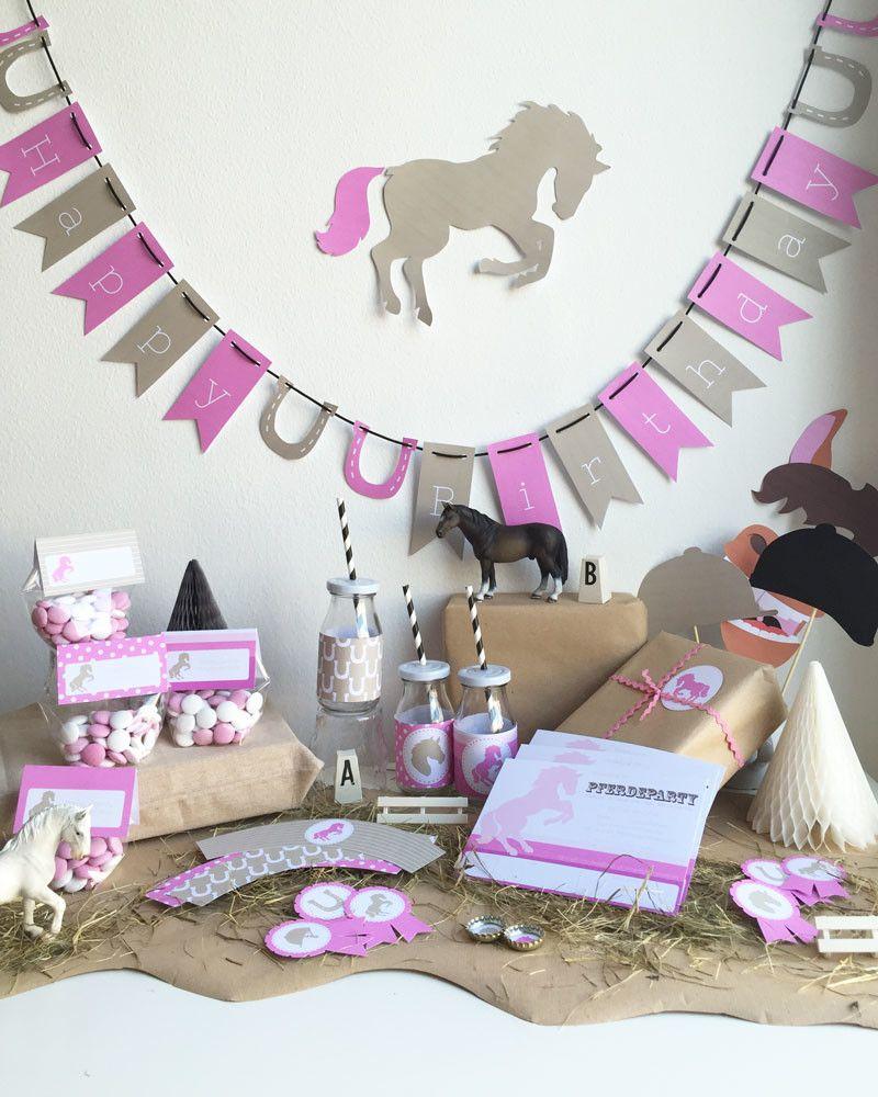 pferdegeburtstag das party paket f r den kindergeburtstag geburtstag pinterest geburt. Black Bedroom Furniture Sets. Home Design Ideas