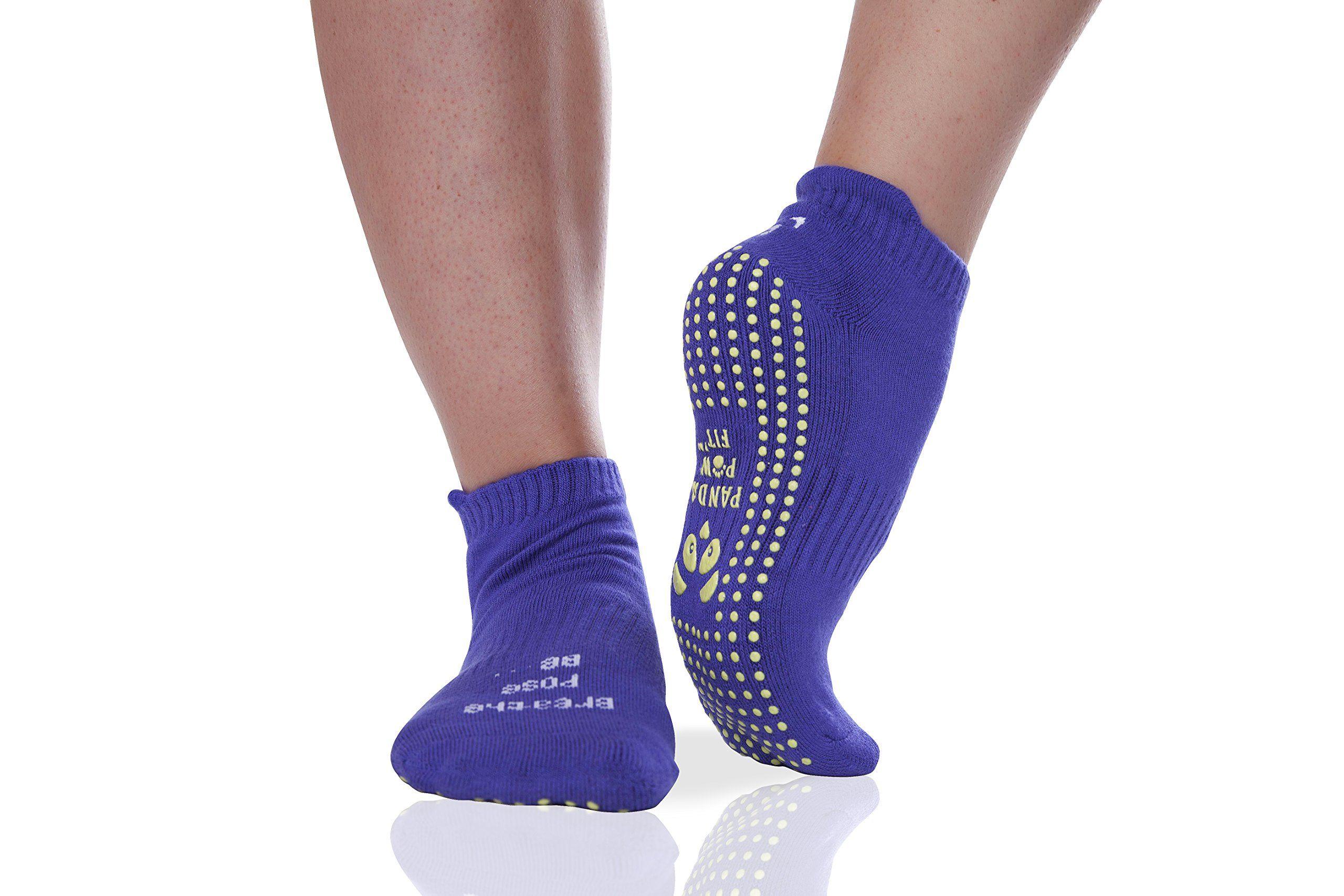 Bamboo Yoga Socks Non Slip Full Toe Grip For Pilates Barre And