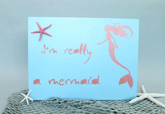 I'm really a mermaid.. beach sign