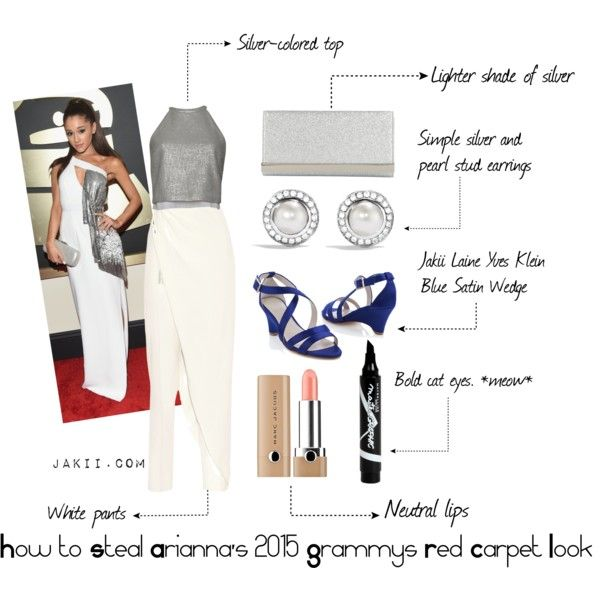 Ariana Grande Grammys 2015 by jakiishoes on Polyvore featuring A.L.C., Baja East, ALDO, David Yurman, Marc Jacobs, Maybelline and JakiiShoes