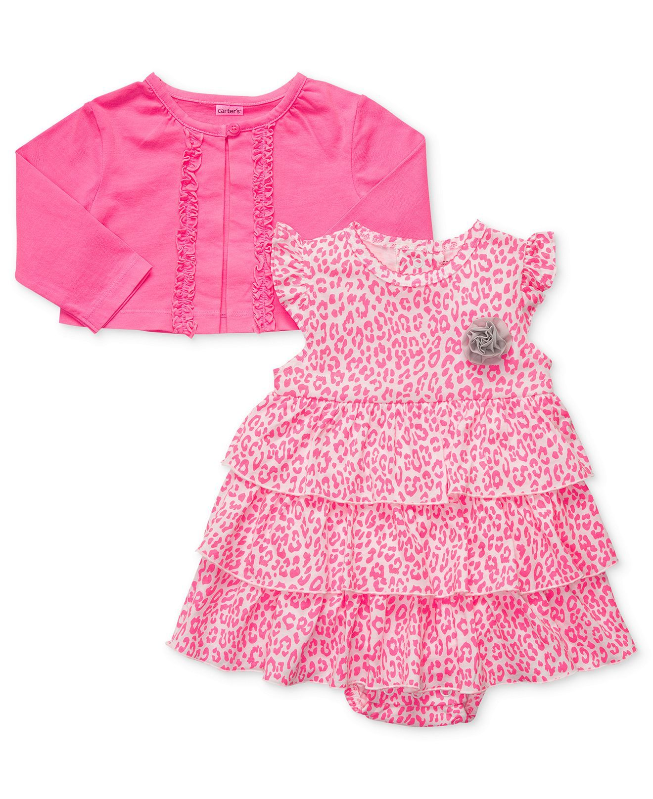 038bf547b Carters Baby Set, Baby Girls 2-Piece Set with Dress and Cardigan - Kids -  Macys - for the little one
