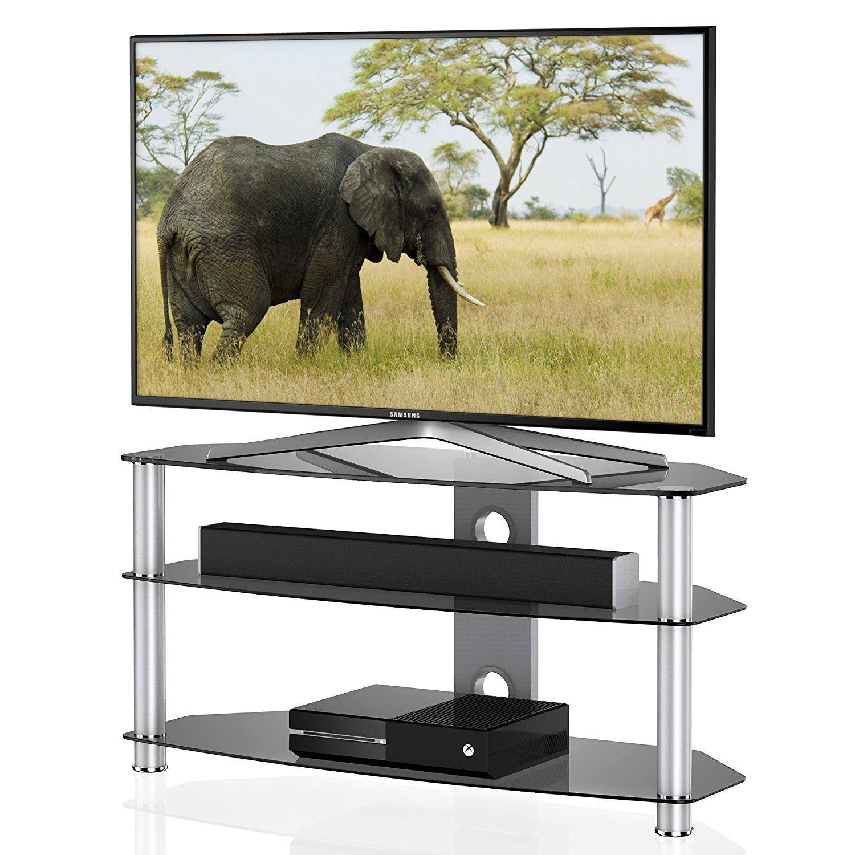 Fitueyes Meuble Tv Avec Support Télé Pied Pour Ecran De 37 à 60