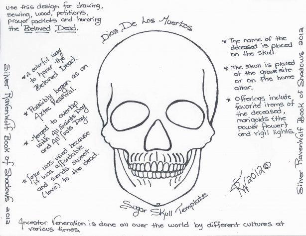 Magick Notes \u2014 Dios De Los Muertos Sugar Skull Template Sugar