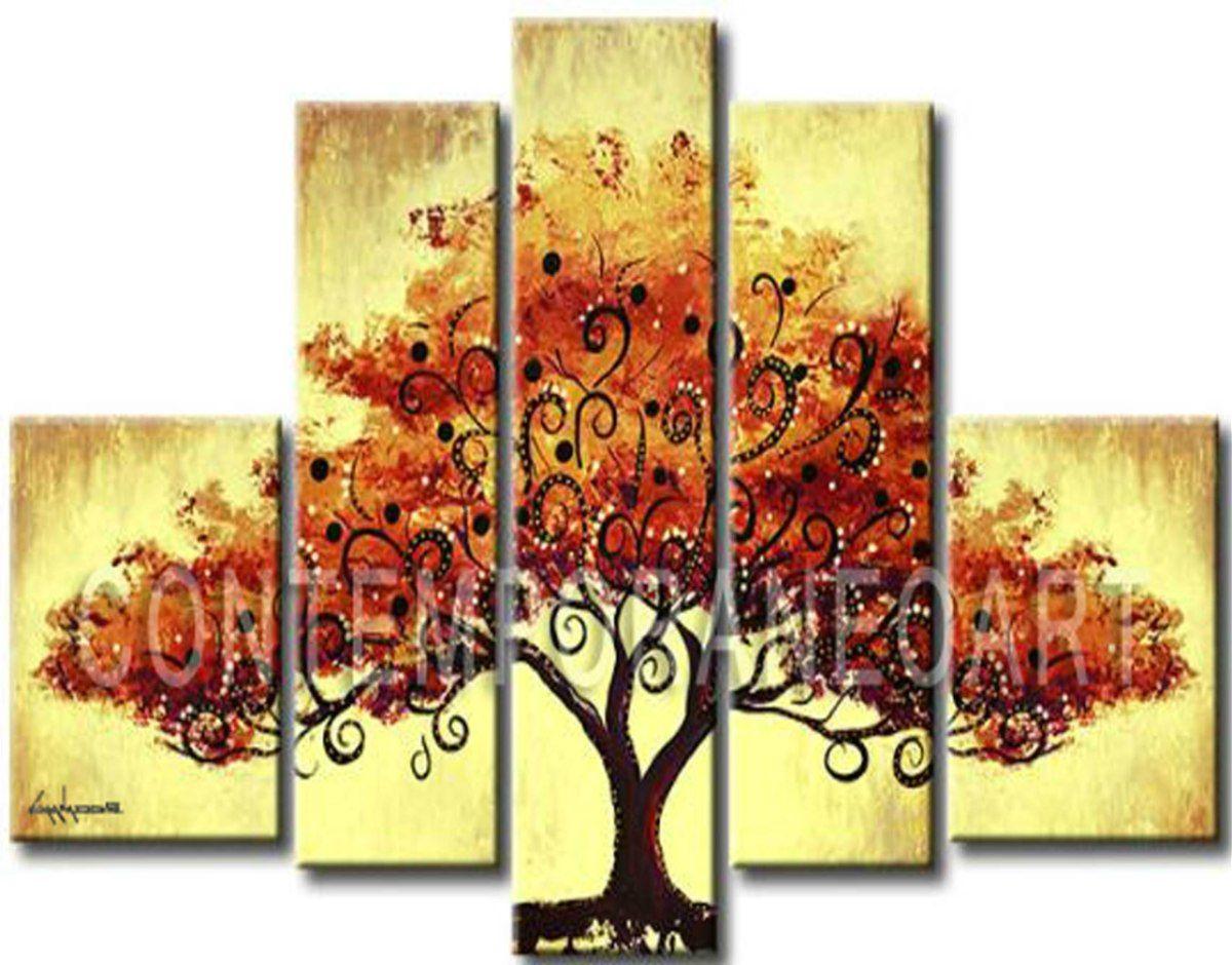 cuadros abstractos decorativos florales modernos promocion ml