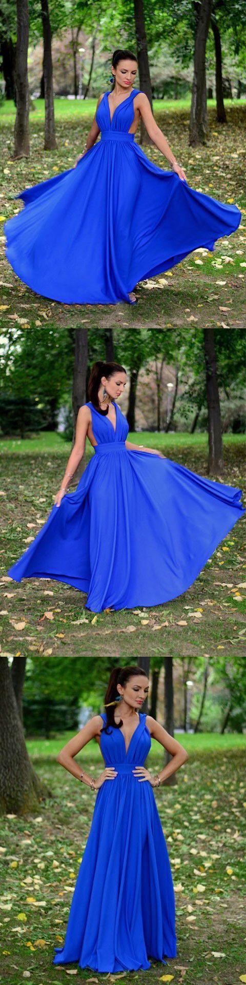Chic a line chiffon prom dress modest beautiful cheap long prom