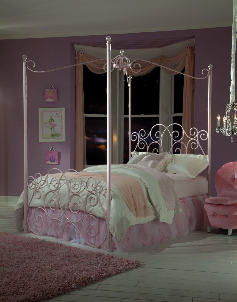 Bedroom  Standard  Kids  Princess  90000 Every Little Girl Will Be A  Princess With Our Metal Canopy Princess Bed As The Focal Point Of Her  Bedroom.