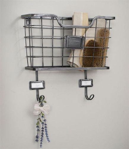 Metal Wire Hanging Wall Basket With Hooks Tn 430000 Baskets On Wall Hanging Wall Baskets Wire Wall Basket