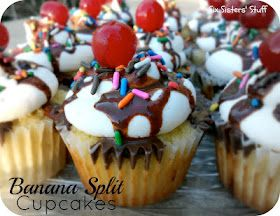 Banana Split Cupcakes....these look ahhmazing!!!