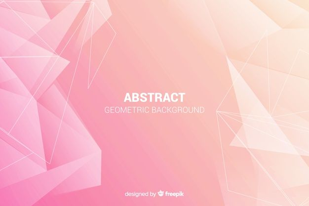 Abstract geometric shapes background Fre  Free Vector