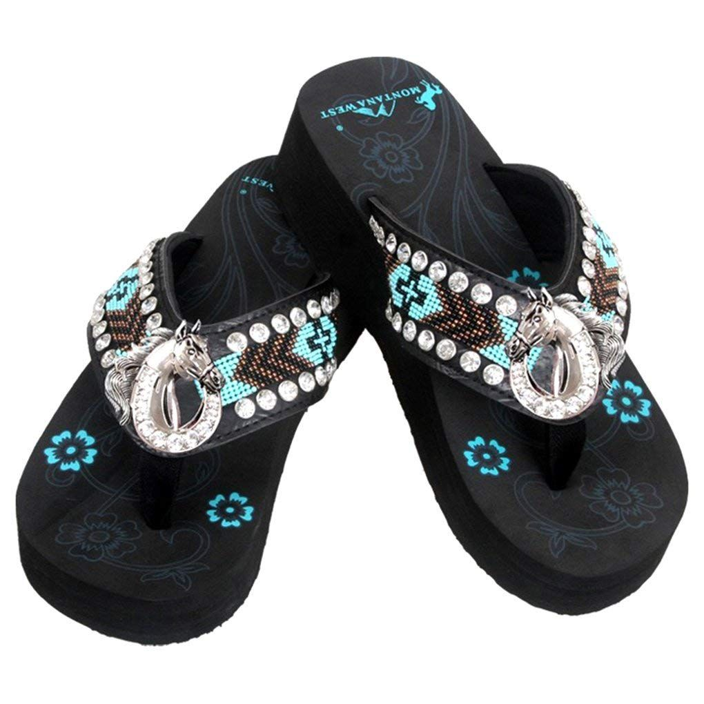 3557fa99ed78 Montana West Women s Hand Beaded Flip Flop Sandals   Sincerely hope you  actually love our picture. (This is an affiliate link)  womensflipflops