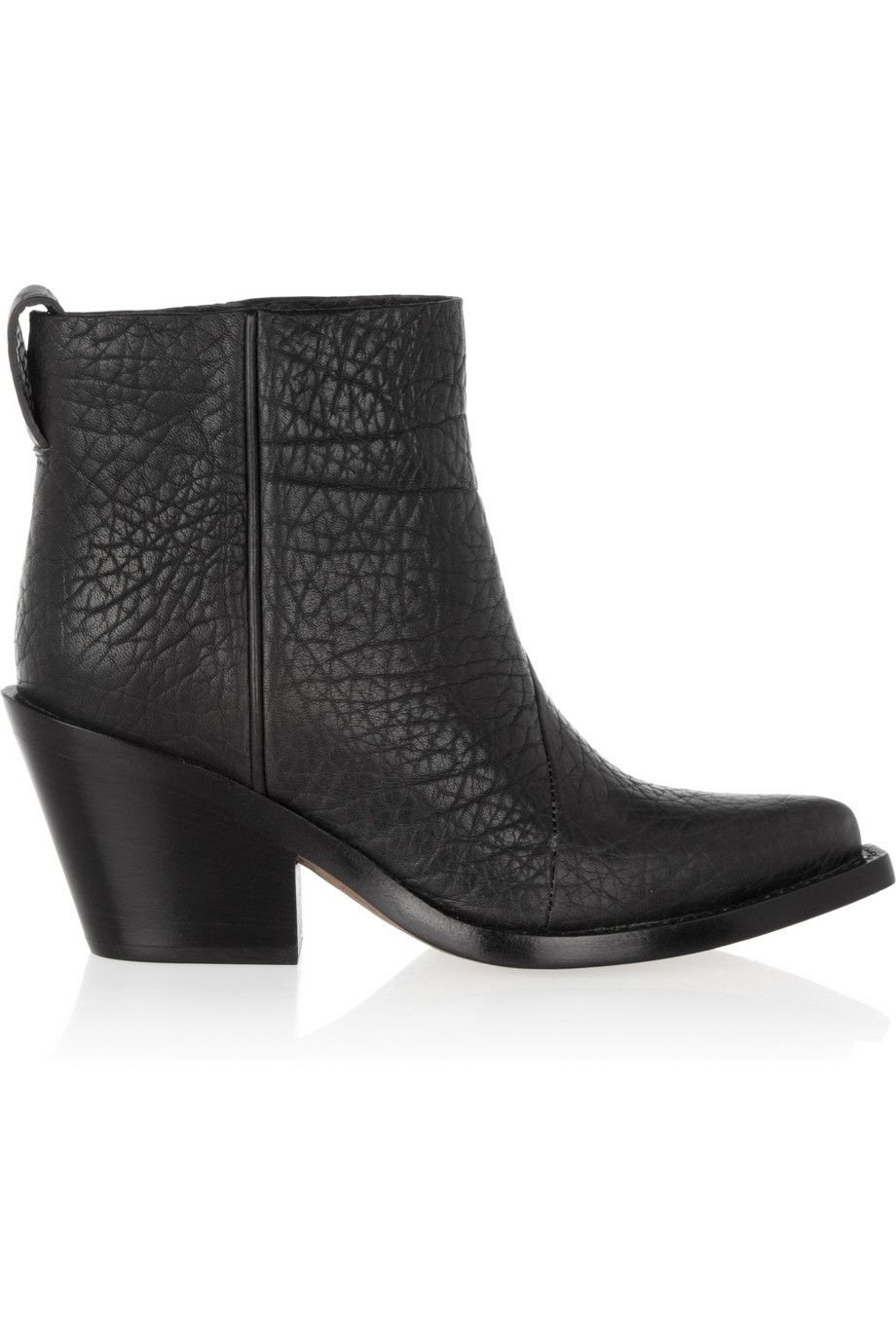 Acne|Donna textured-leather ankle boots|NET-A-PORTER.COM