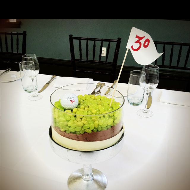 Fun Centerpiece For A Golf Themed 30th Birthday Dinner