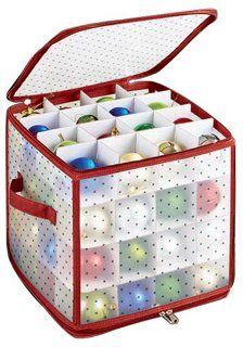 Ornament Storage Box Storage Boxes u0026 Bins from One Kings Lane  sc 1 st  Pinterest & 64-Count Ornament Storage Box | Christmas is in the air | Pinterest ...