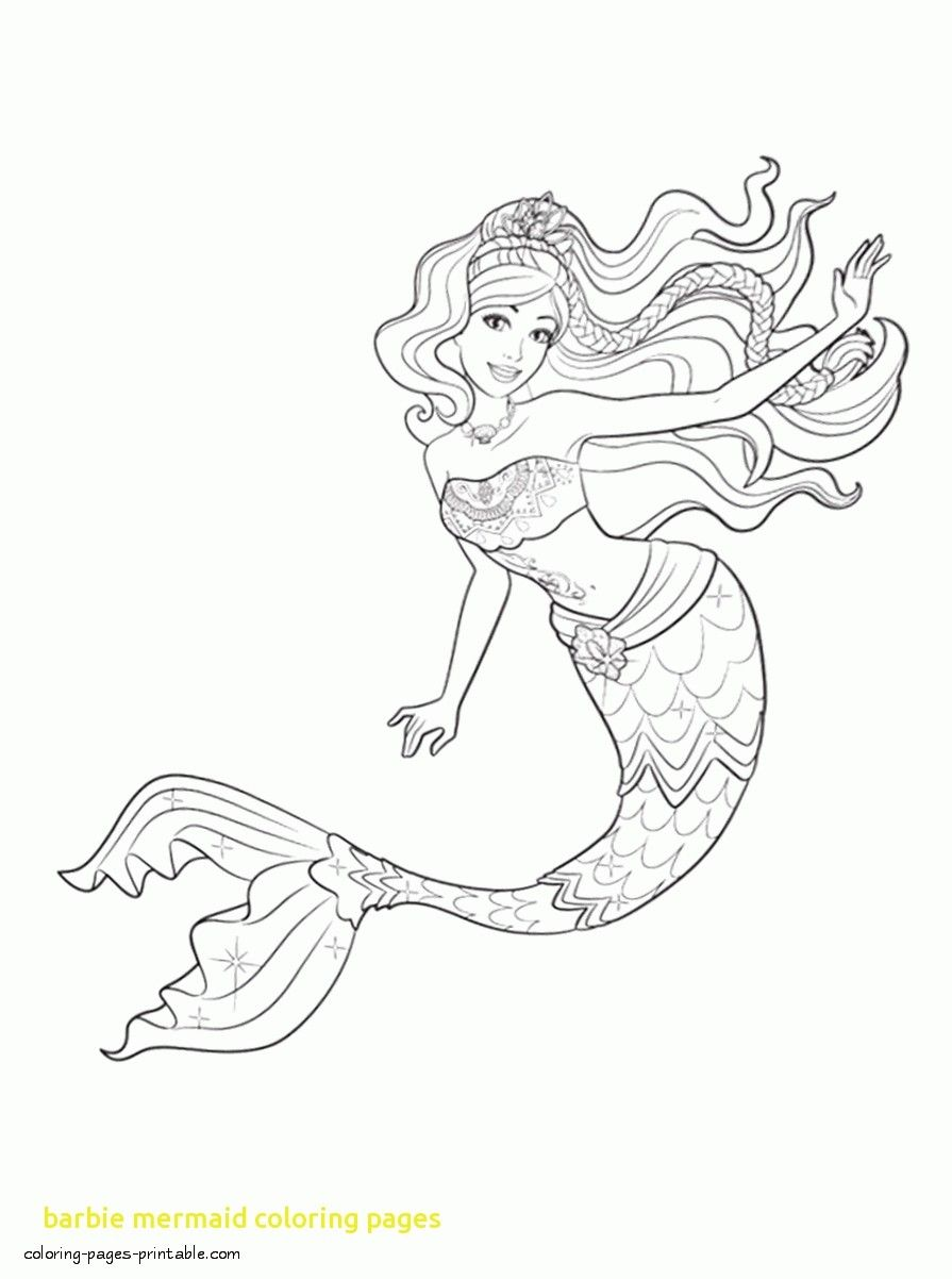 Printable Barbie Mermaid Coloring Pages Free Download For Mermaids