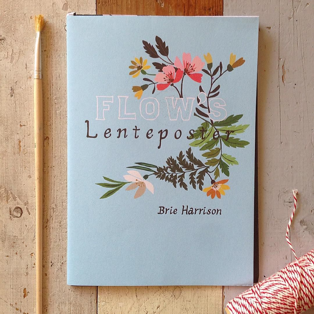 Illustrator @brieharrison made our 'lente-poster' (spring poster), a paper goodie in Dutch issue 2. When you open this mini booklet, you can easily fold out the poster. #flowmagazine