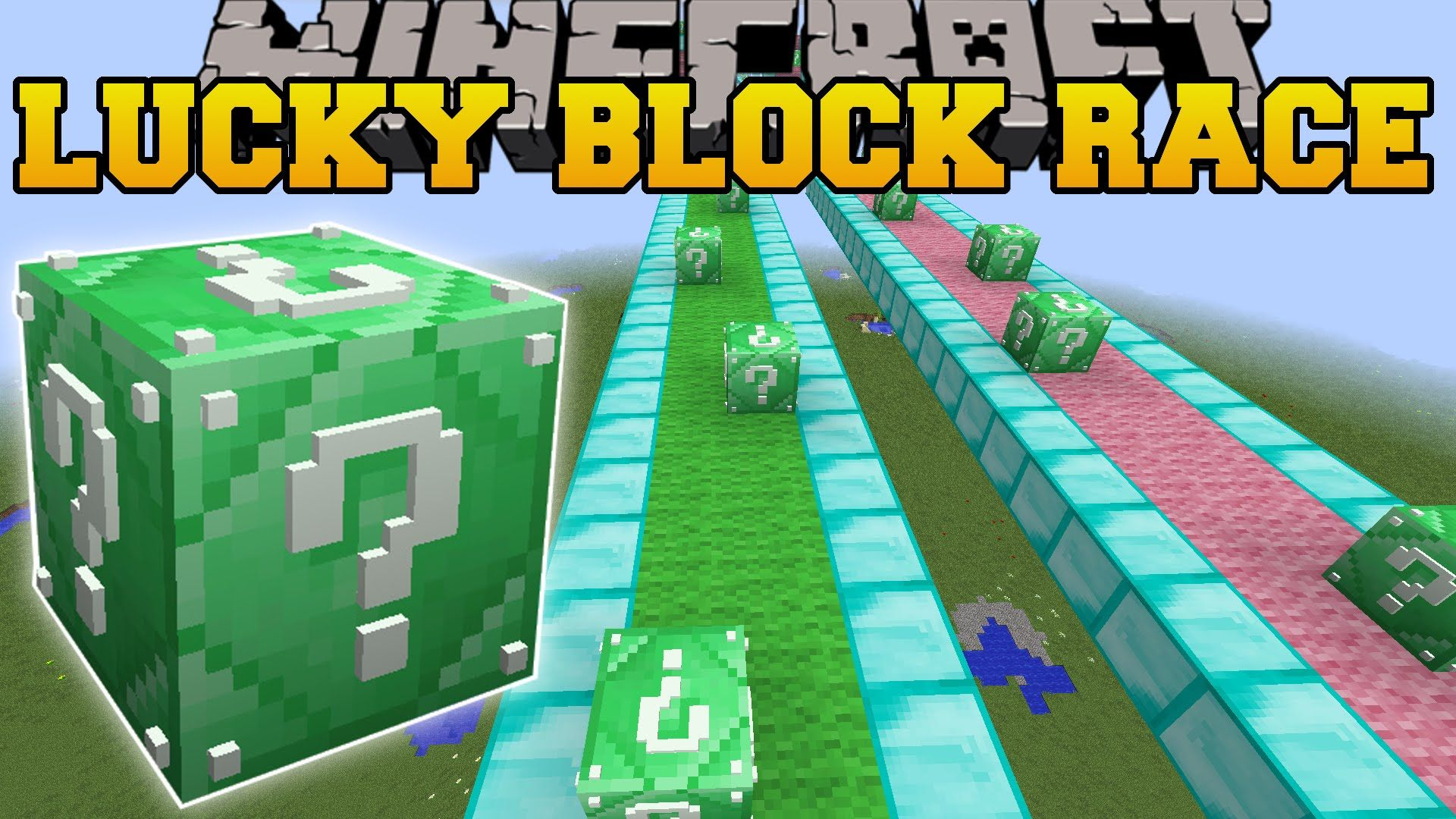 Minecraft: INSANE EMERALD LUCKY BLOCK RACE - Lucky Block Mod - Modde