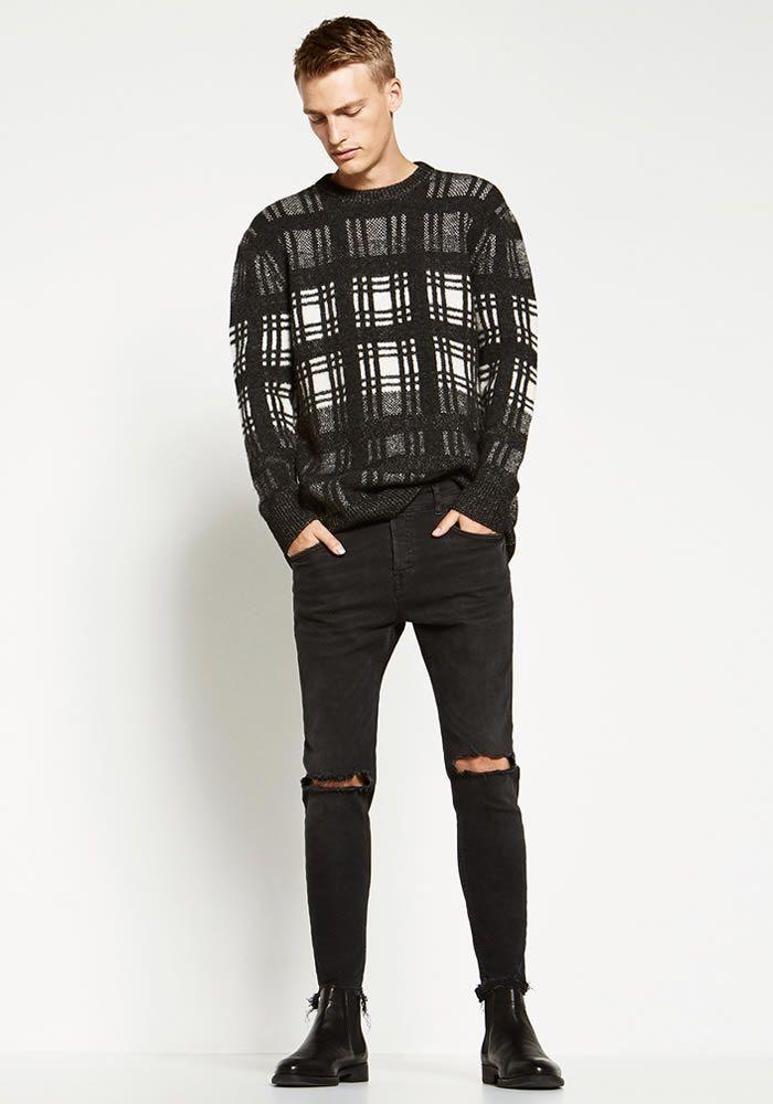 Today S Look Distressed Denim Photo Zara Ootd Menswear